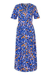 jurk met kleurige panterprint
