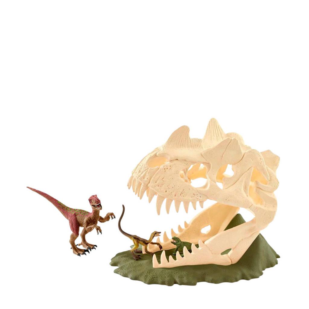 Schleich Dinosaurus grote schedelvalstrik met velociraptor