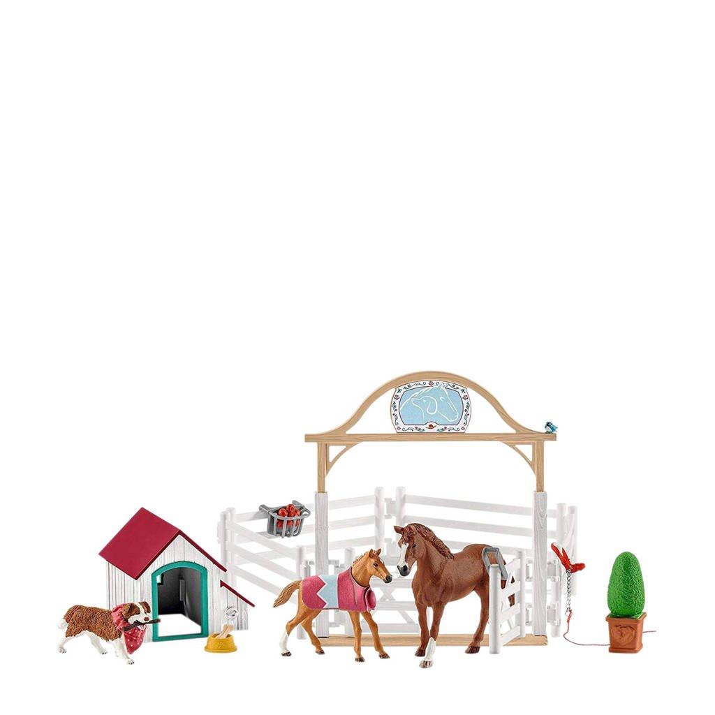 Schleich Horse Club Horse Club Hanna`s gastenverblijf met hondenhok