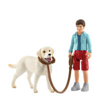 Schleich Farm World wandelen met labrador retriever