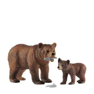 Wild Life grizzly beer moeder met jong