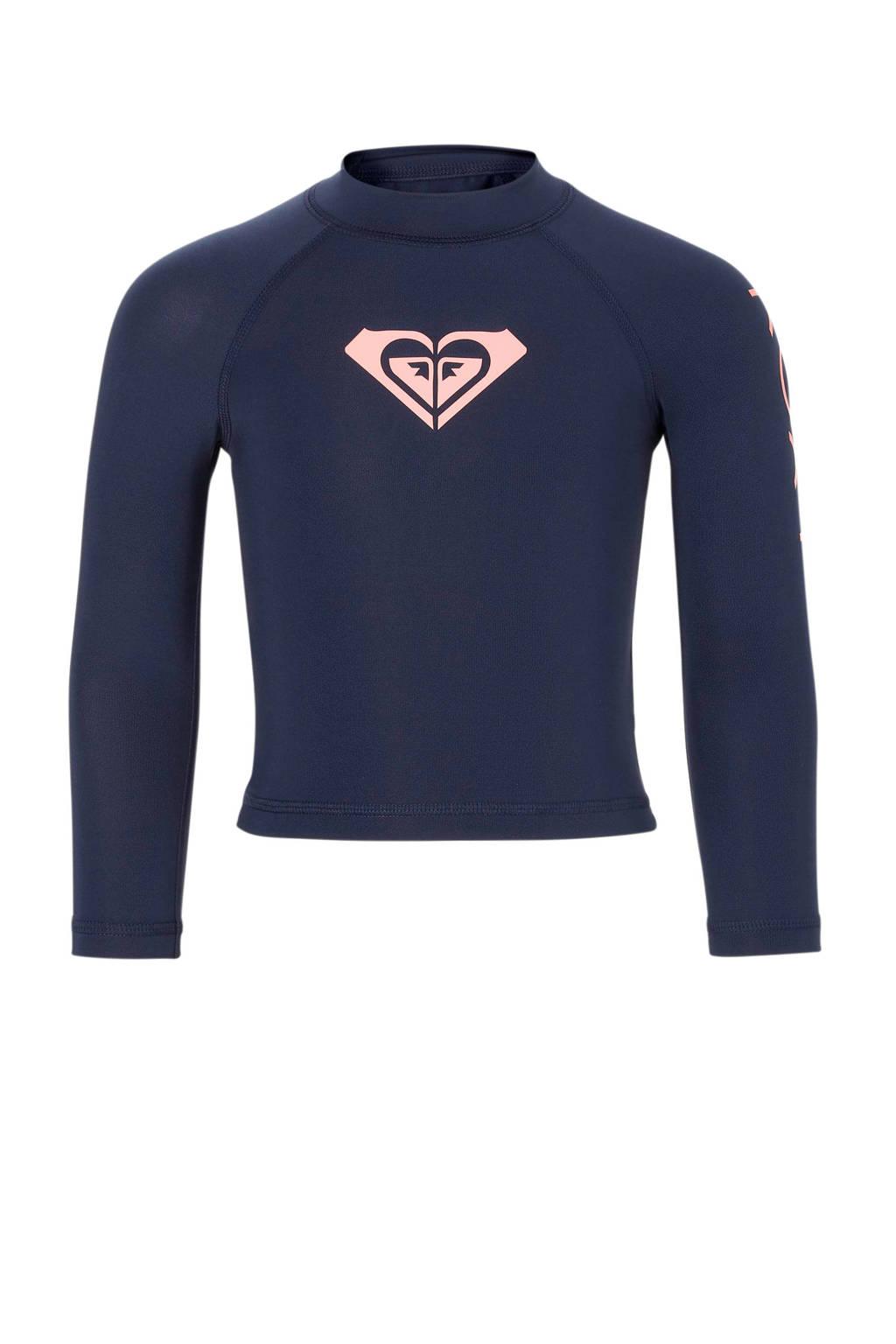 Roxy UV T-shirt met lange mouwen blauw, Blauw/roze