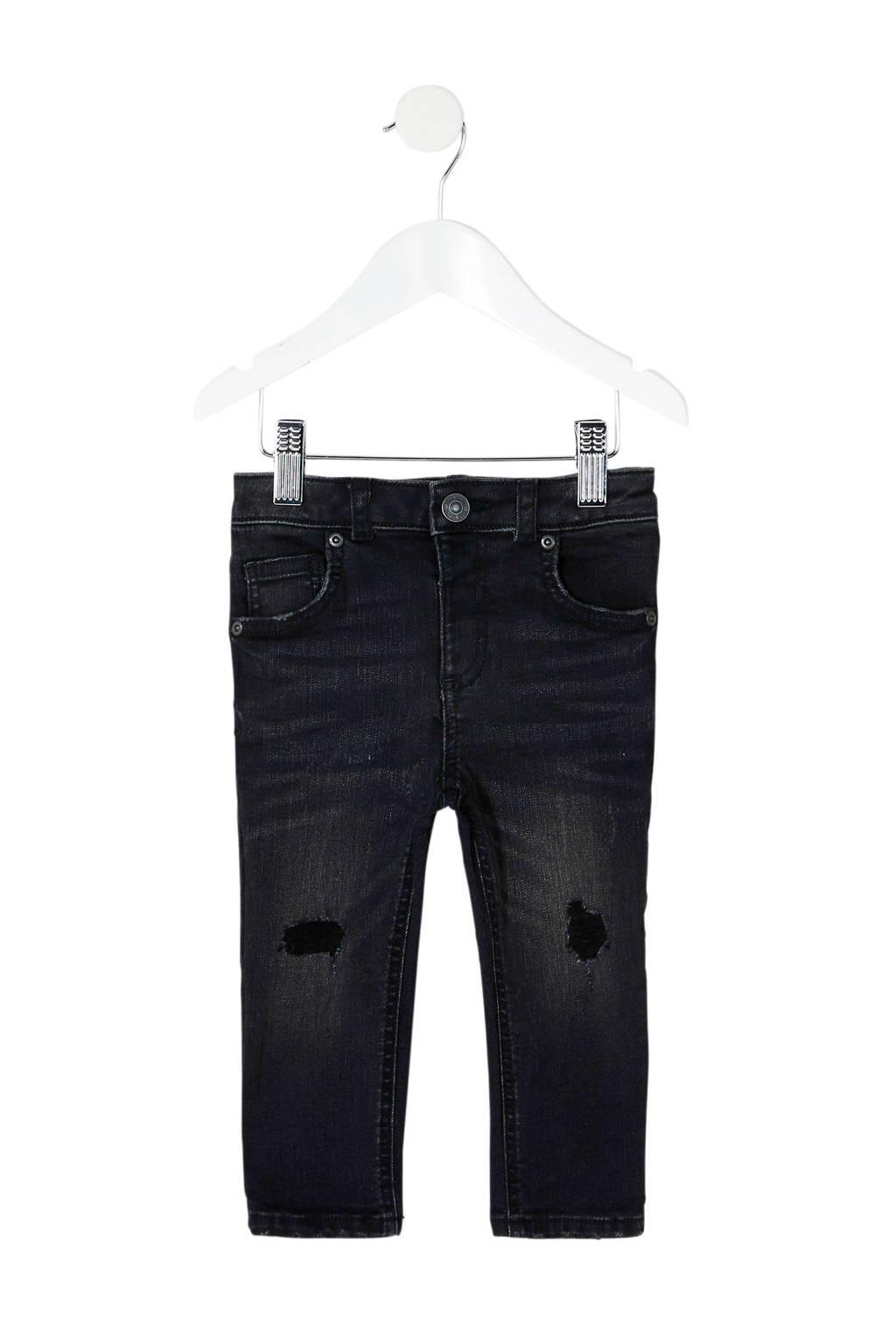 River Island skinny jeans Sid, Zwart