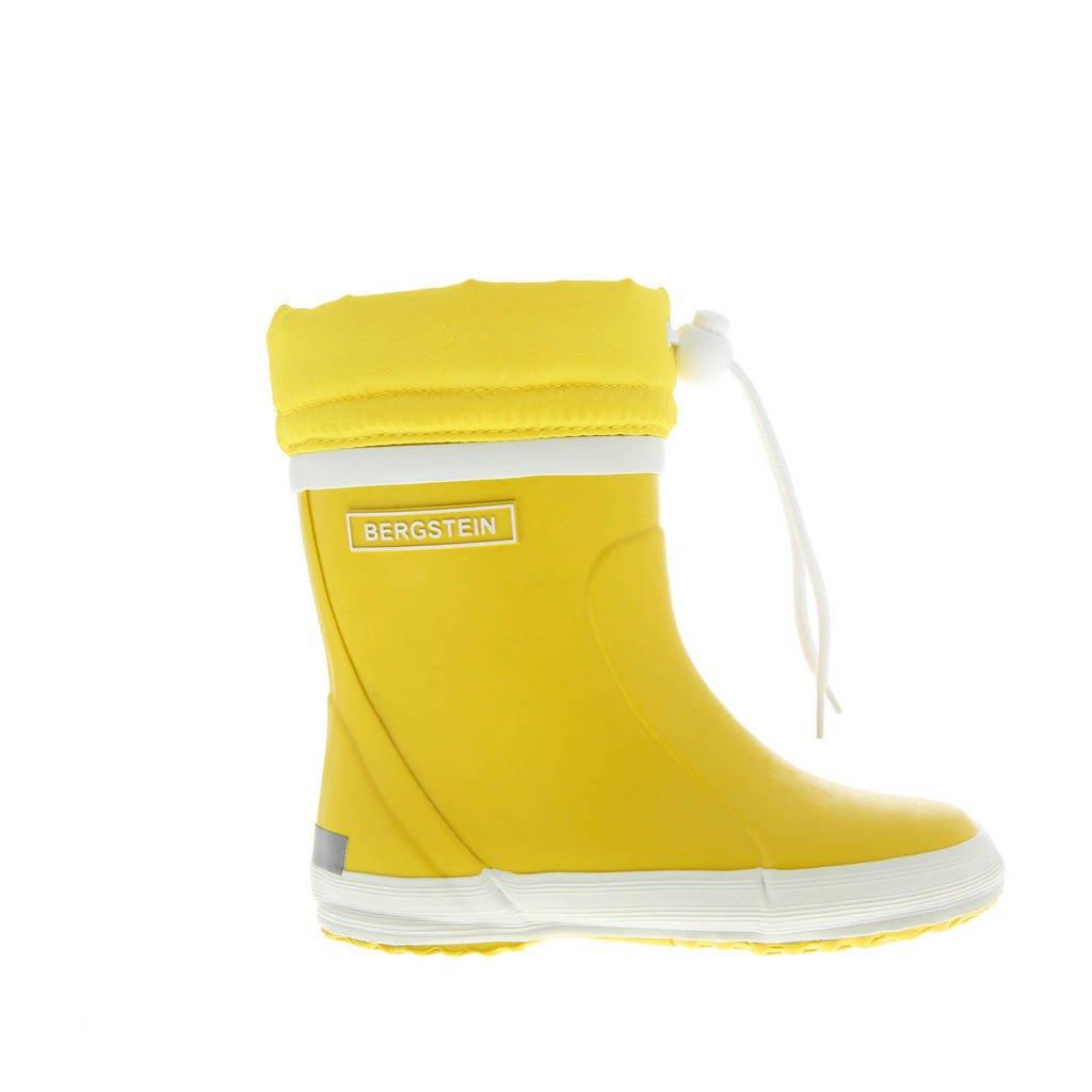 Bergstein   winterlaarzen geel kids, Geel/wit