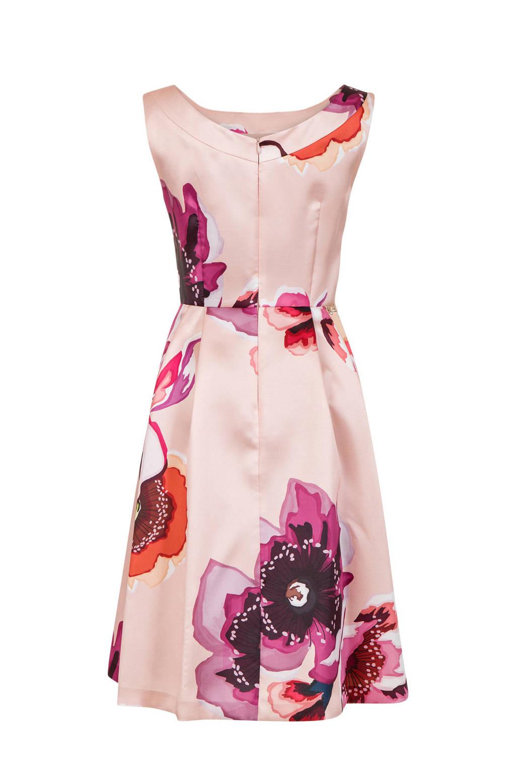 Steps jurk met bloemenprint, Roze