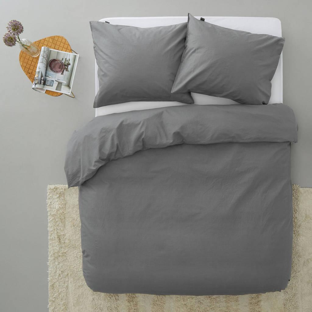 Damai katoenen dekbedovertrek lits jumeaux, Lits-jumeaux (240 cm breed), Antraciet