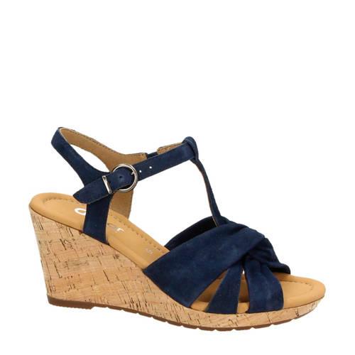 Gabor su????de sandalettes blauw