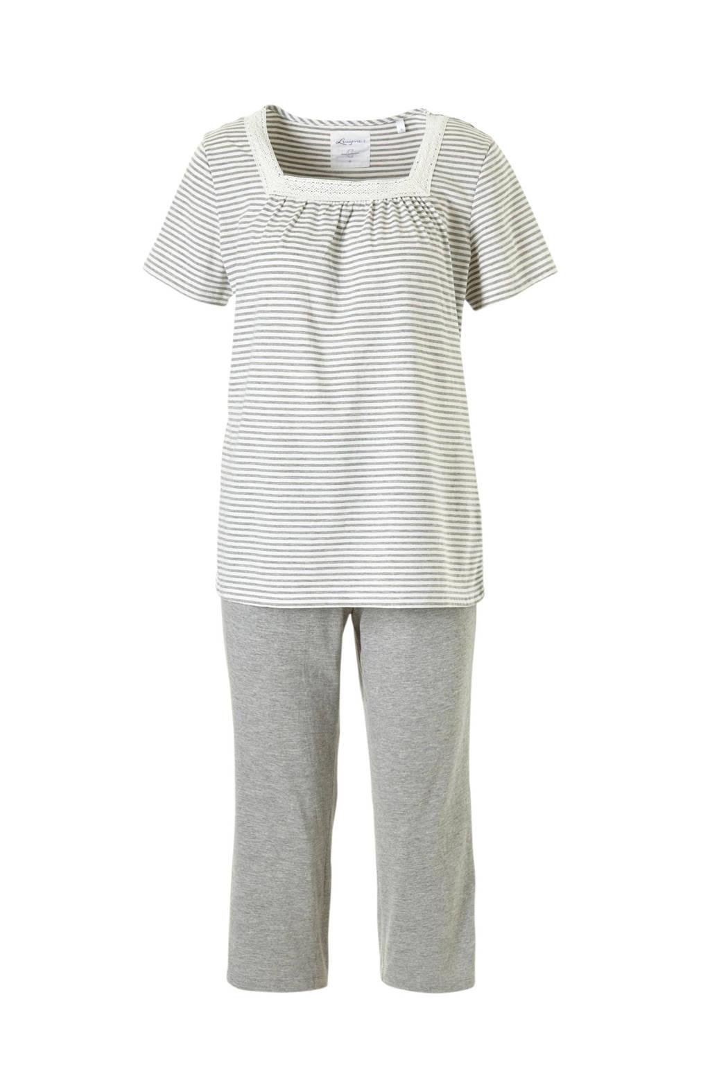 C&A Lingerie pyjama grijs, Stripe9AMdGray