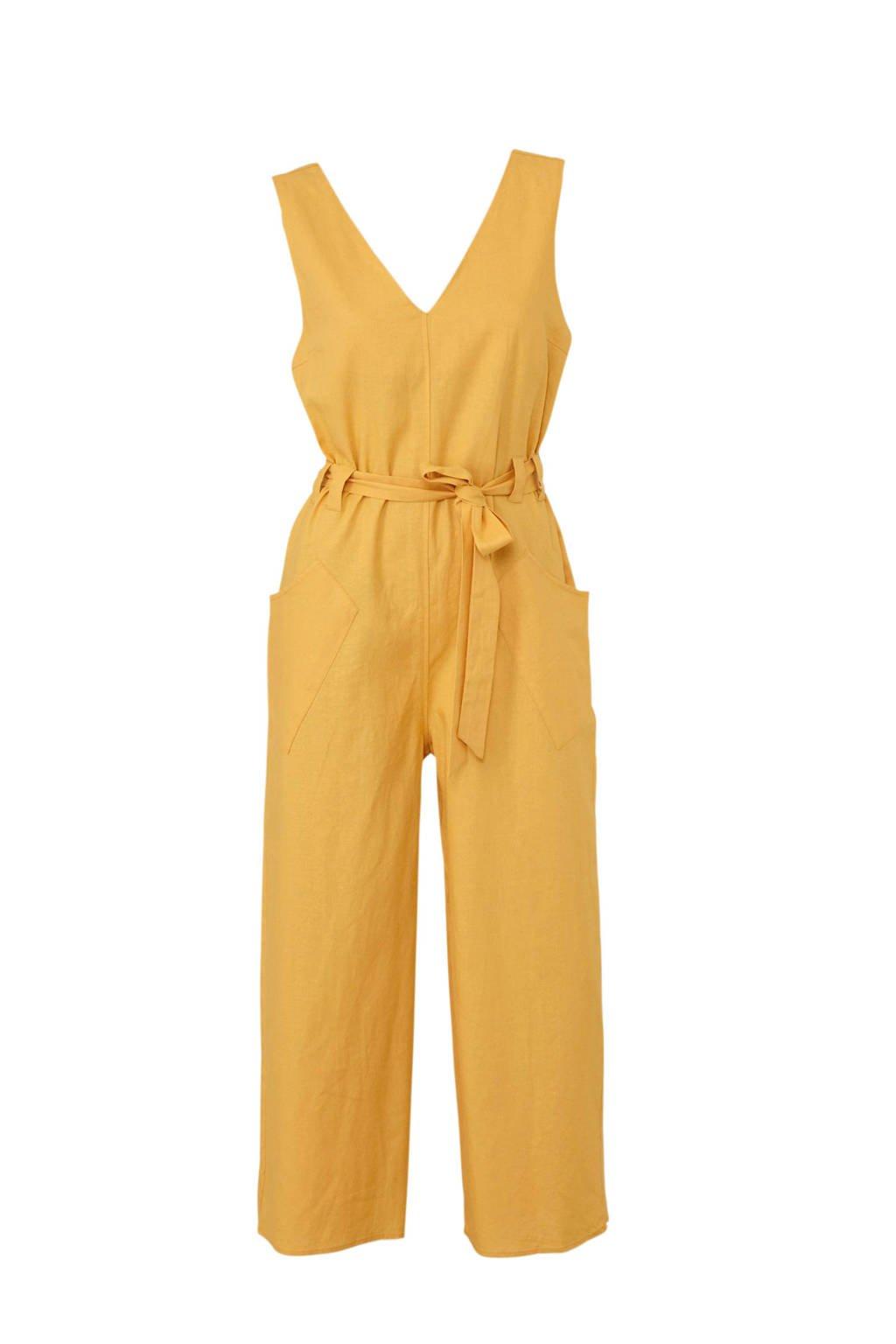 Mango jumpsuit geel, Geel