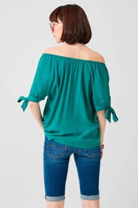 Q/S designed by off shoulder top turquoise, Turquoise