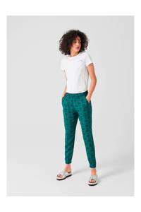 Q/S designed by loose fit harembroek met all over print groen, Groen