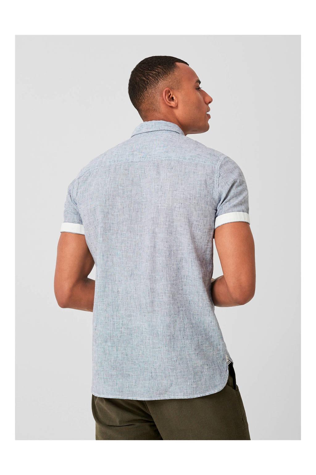 Q/S designed by regular fit overhemd donkerblauw, Donkerblauw