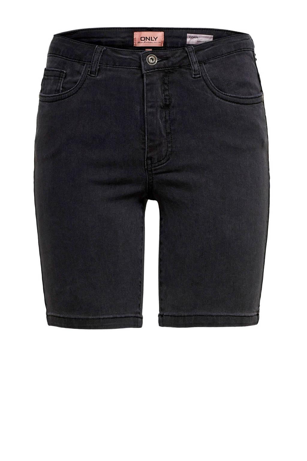 ONLY jeans short zwart, Zwart