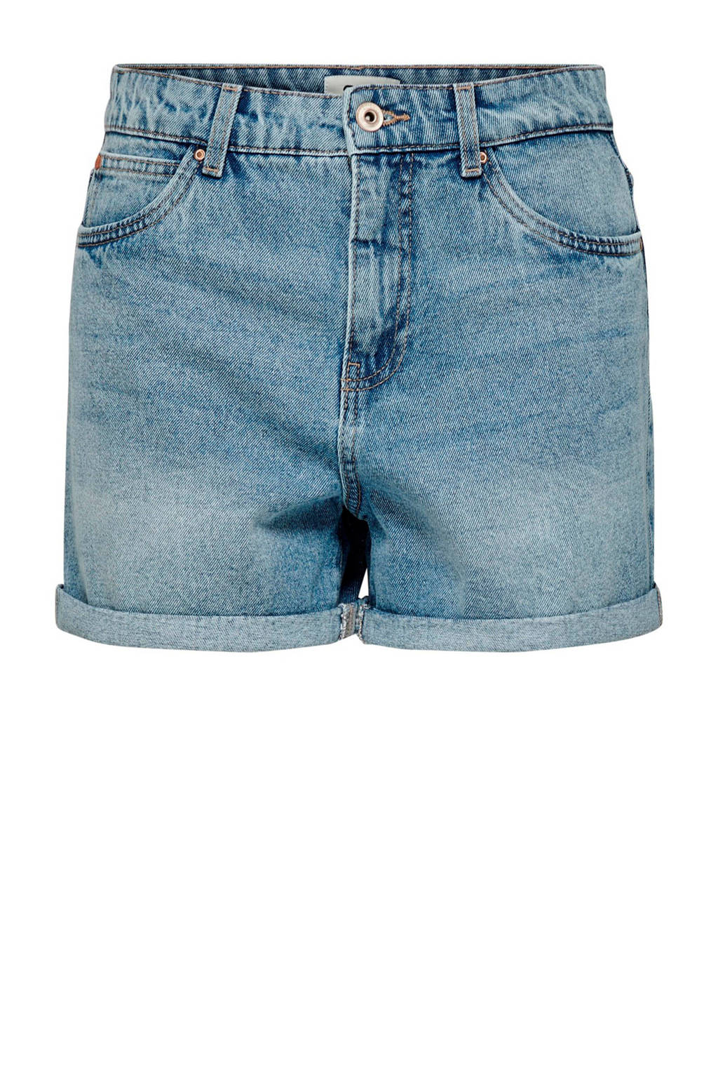 ONLY regular fit jeans short blauw, Blauw
