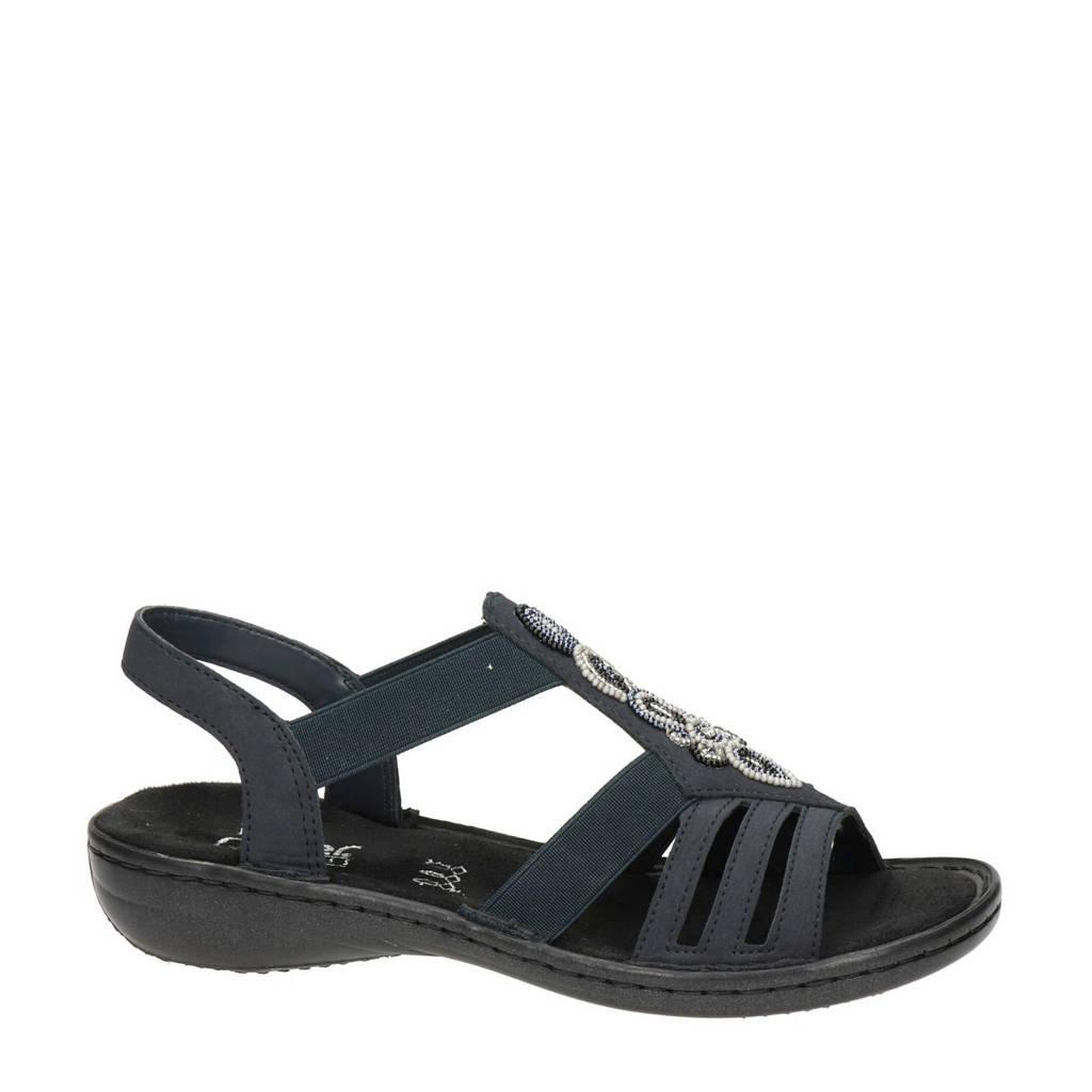 Rieker   sandalen donkerblauw, Blauw