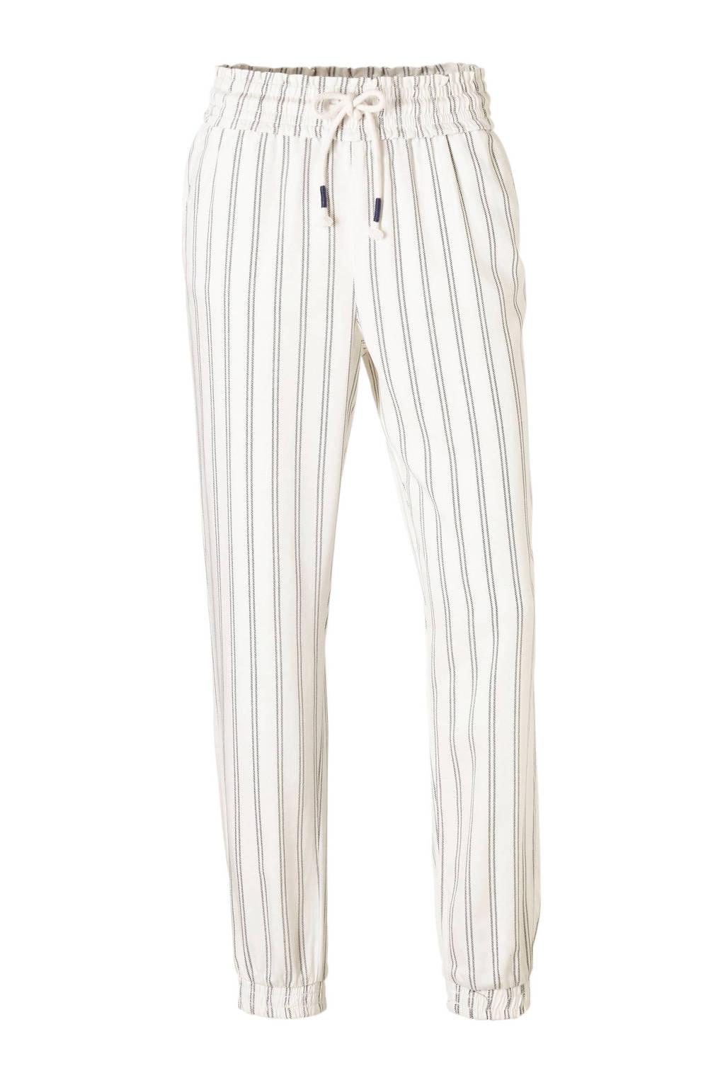 C&A gestreepte broek wit, Wit/zwart