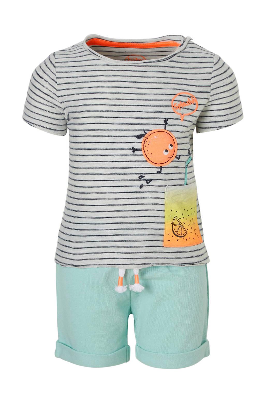 C&A Baby Club T-shirt+short, Lichtgrijs