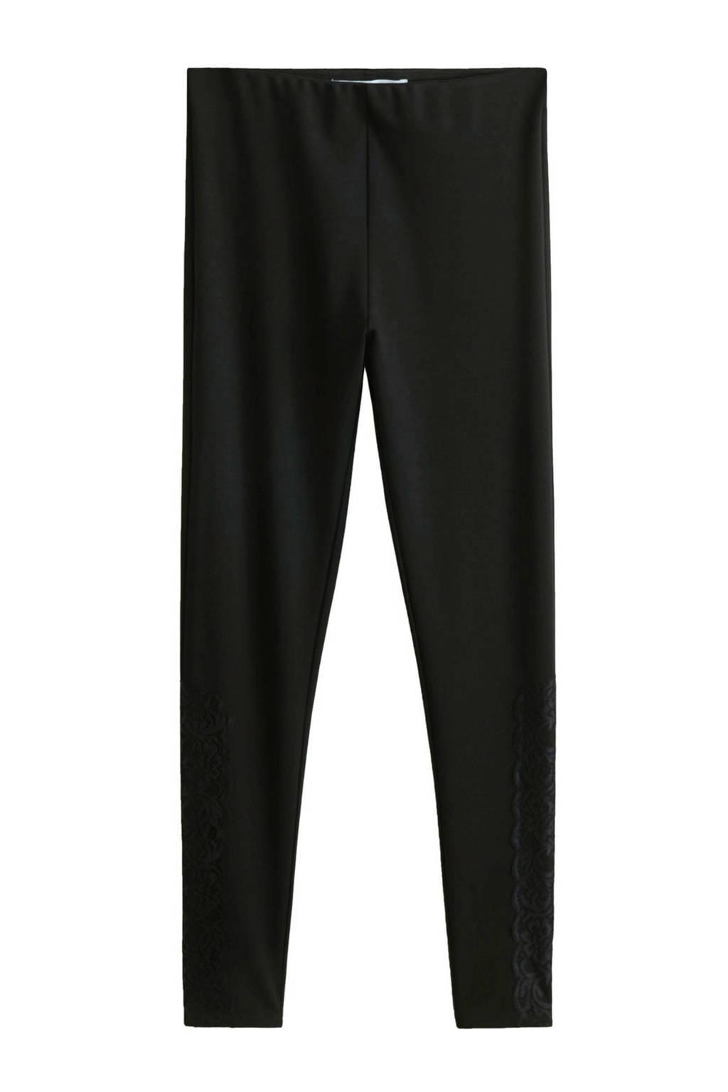 Mango legging zwart, Zwart