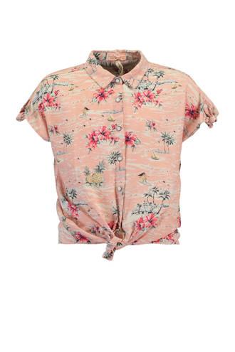 blouse Britt met all over print roze