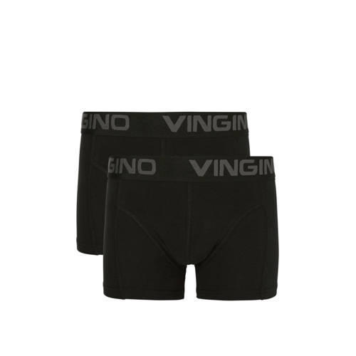 Vingino boxershort set van 2 zwart