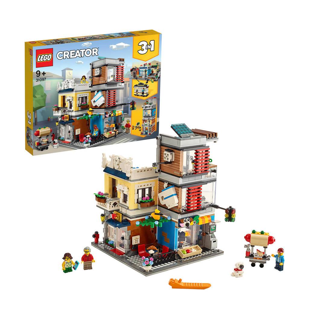 Wonderbaar LEGO Creator Woonhuis, dierenwinkel & café 31097 | wehkamp EY-39
