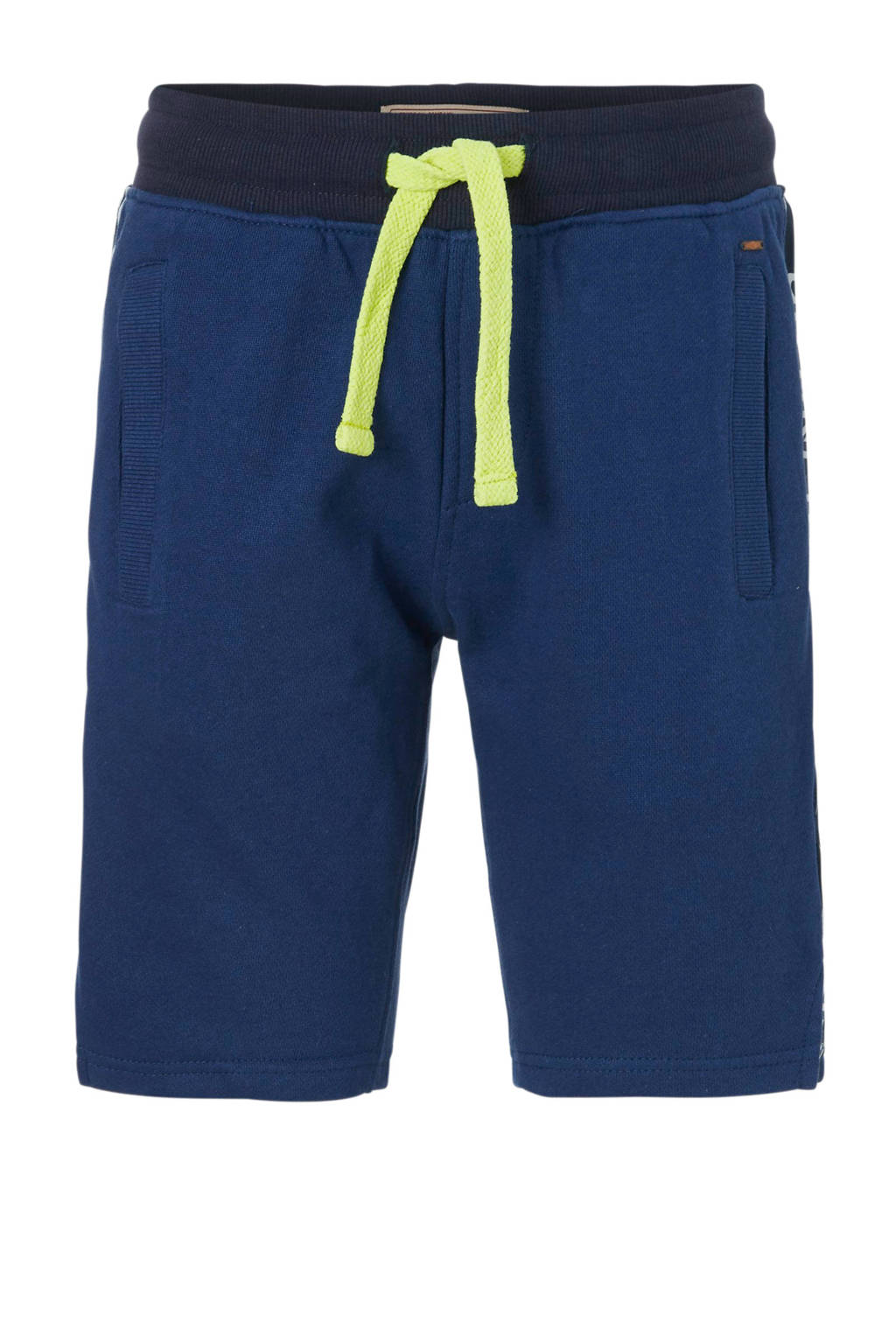 Petrol Industries sweatshort met zijbies donkerblauw, Donkerblauw