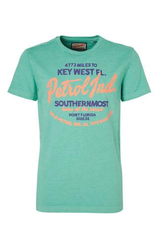 T-shirt met print lichtgroen