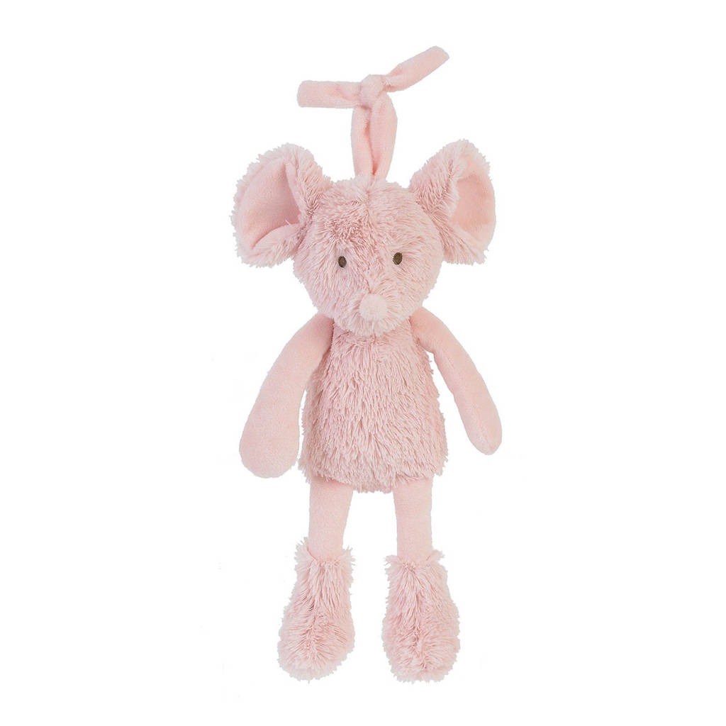 Happy Horse Mouse Marin Musical knuffel 26 cm, Roze