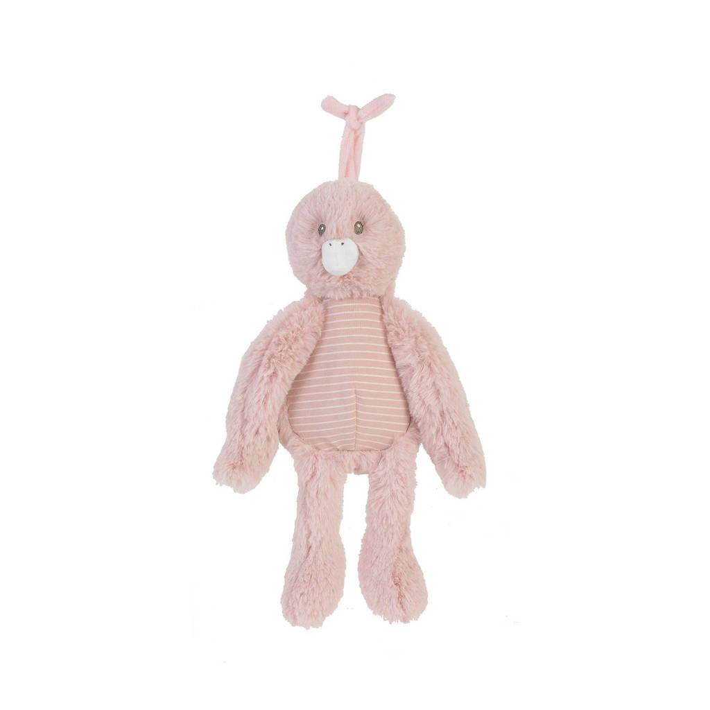 Happy Horse Duck Dewy Musical knuffel 28 cm, Roze