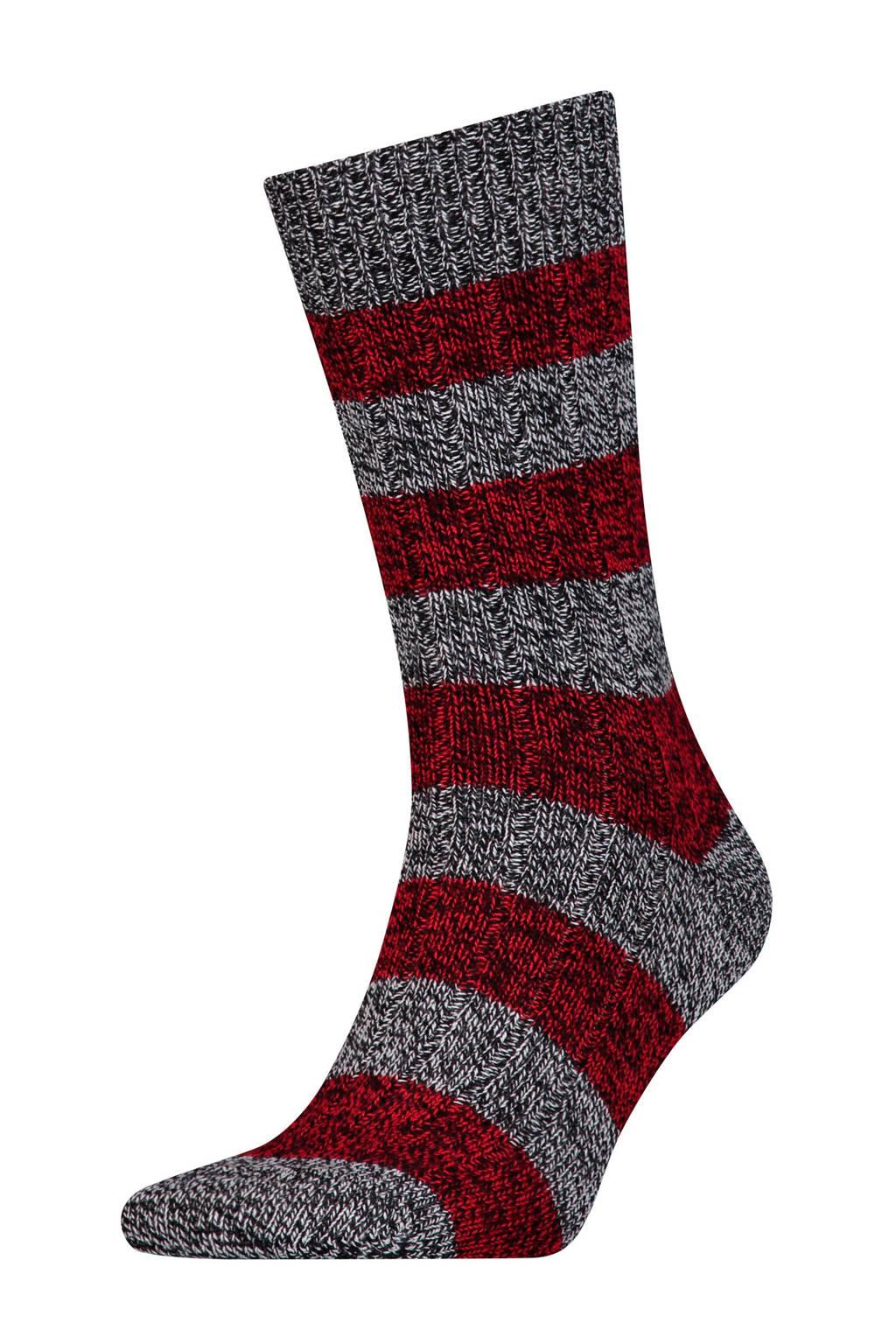 Levi's geméleerde sokken rood, Rood/zwart/wit