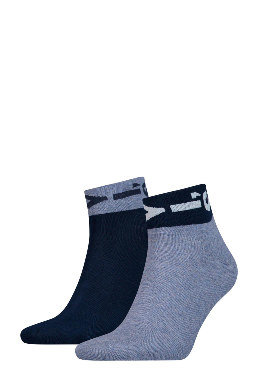 Levi's sokken met logoprint blauw, Blauw/marine/wit