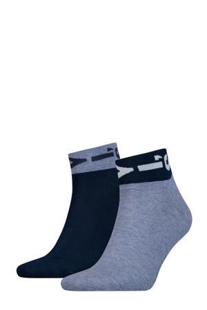 sokken met logoprint blauw