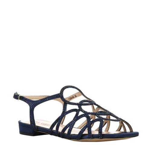 Lina Locchi leren sandalen blauw kopen