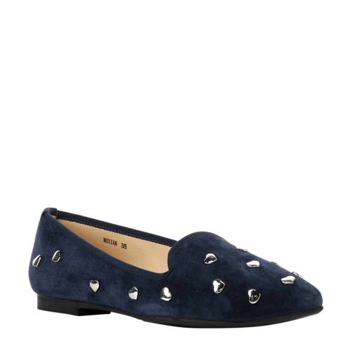 Stefano Lauran Marian suède loafers donkerblauw