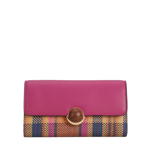 Parfois geruite portemonnee roze kopen