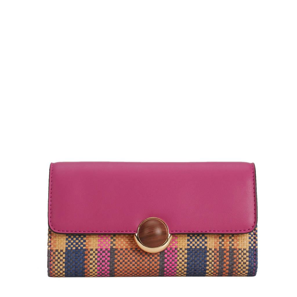 Parfois geruite portemonnee roze, Roze
