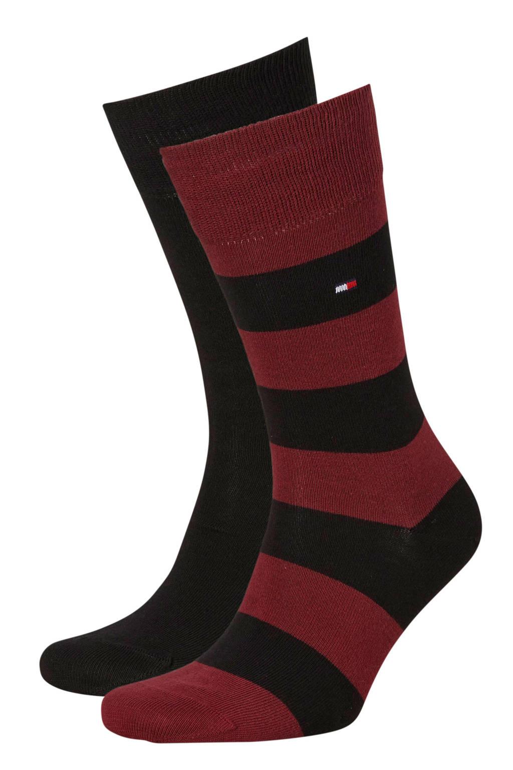 Tommy Hilfiger sokken Rugby ( 2 paar ) bordeaux, Bordeaux