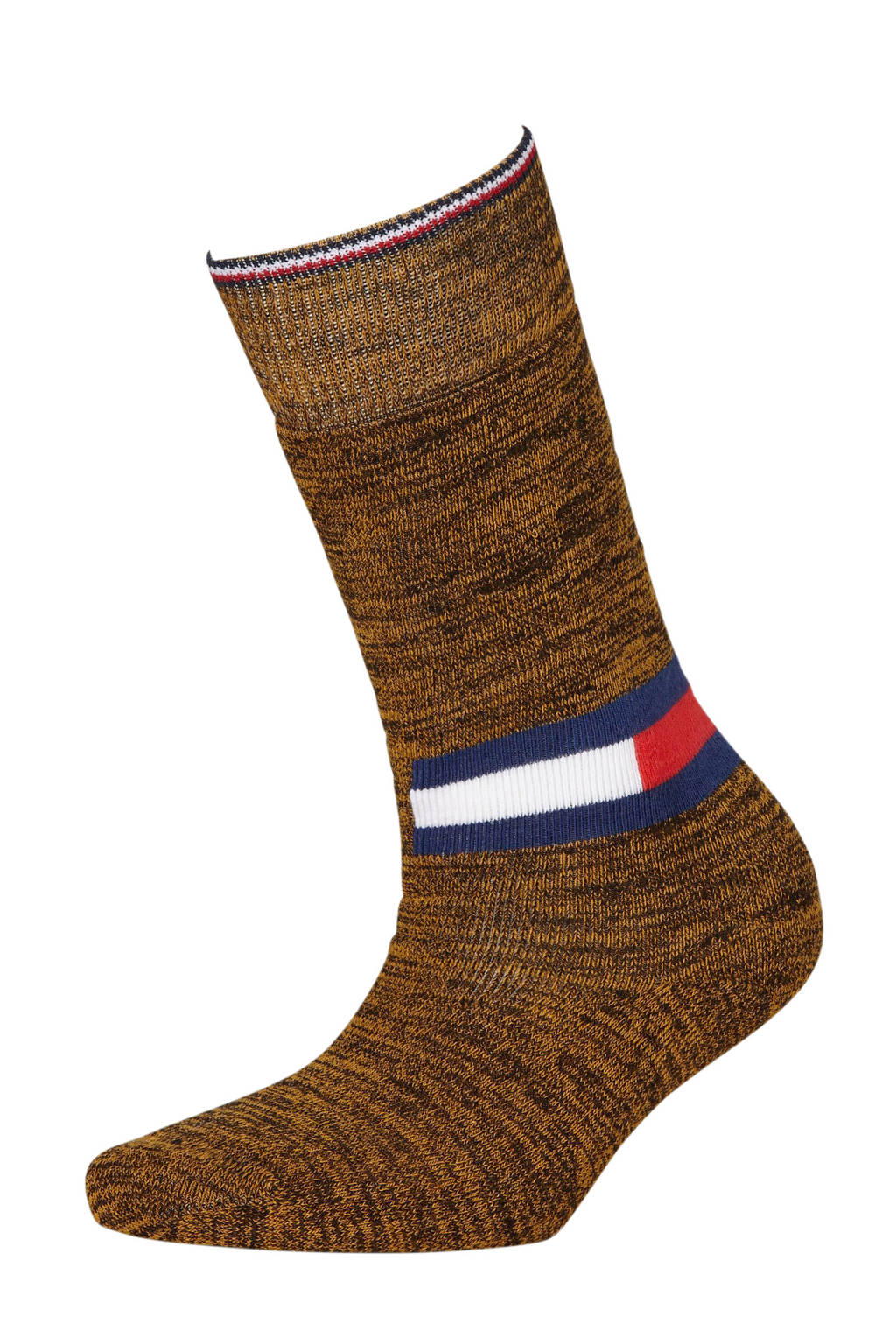 Tommy Hilfiger geméleerd knielange sokken zwart/goud, Zwart/goud