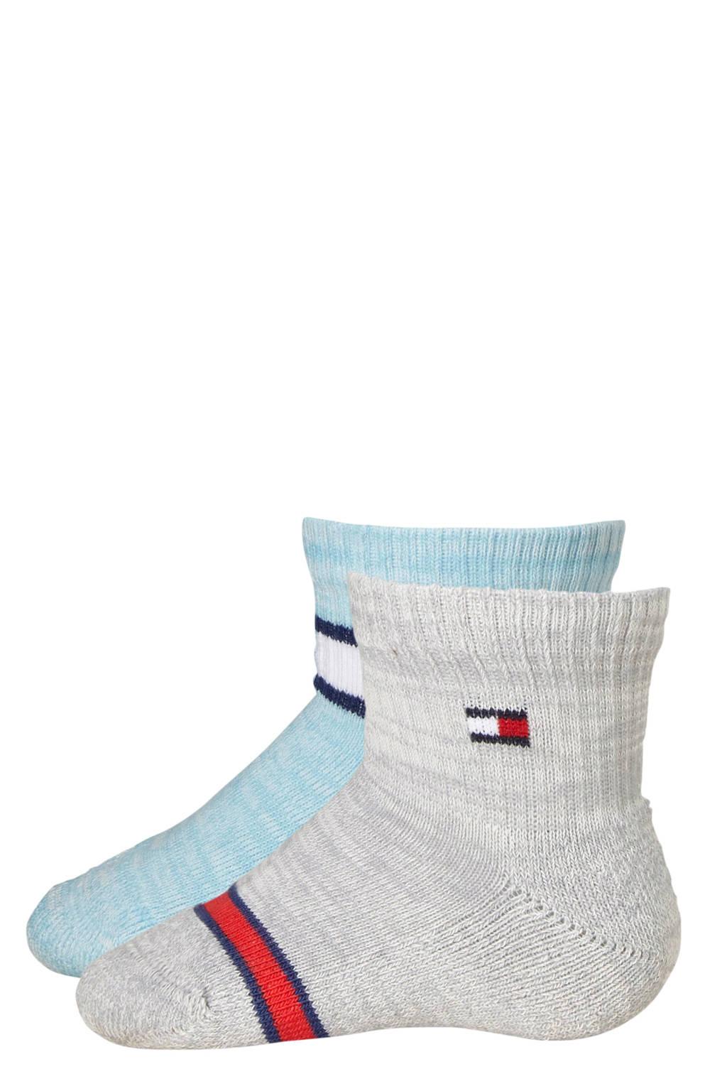 Tommy Hilfiger baby sokken run free ( 2 paar ) blauw, Blauw/grijs