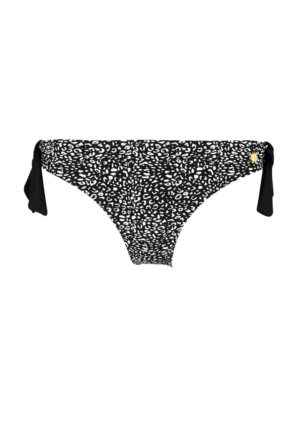 Lascana strik bikinibroekje met all over print zwart/wit, Zwart/wit
