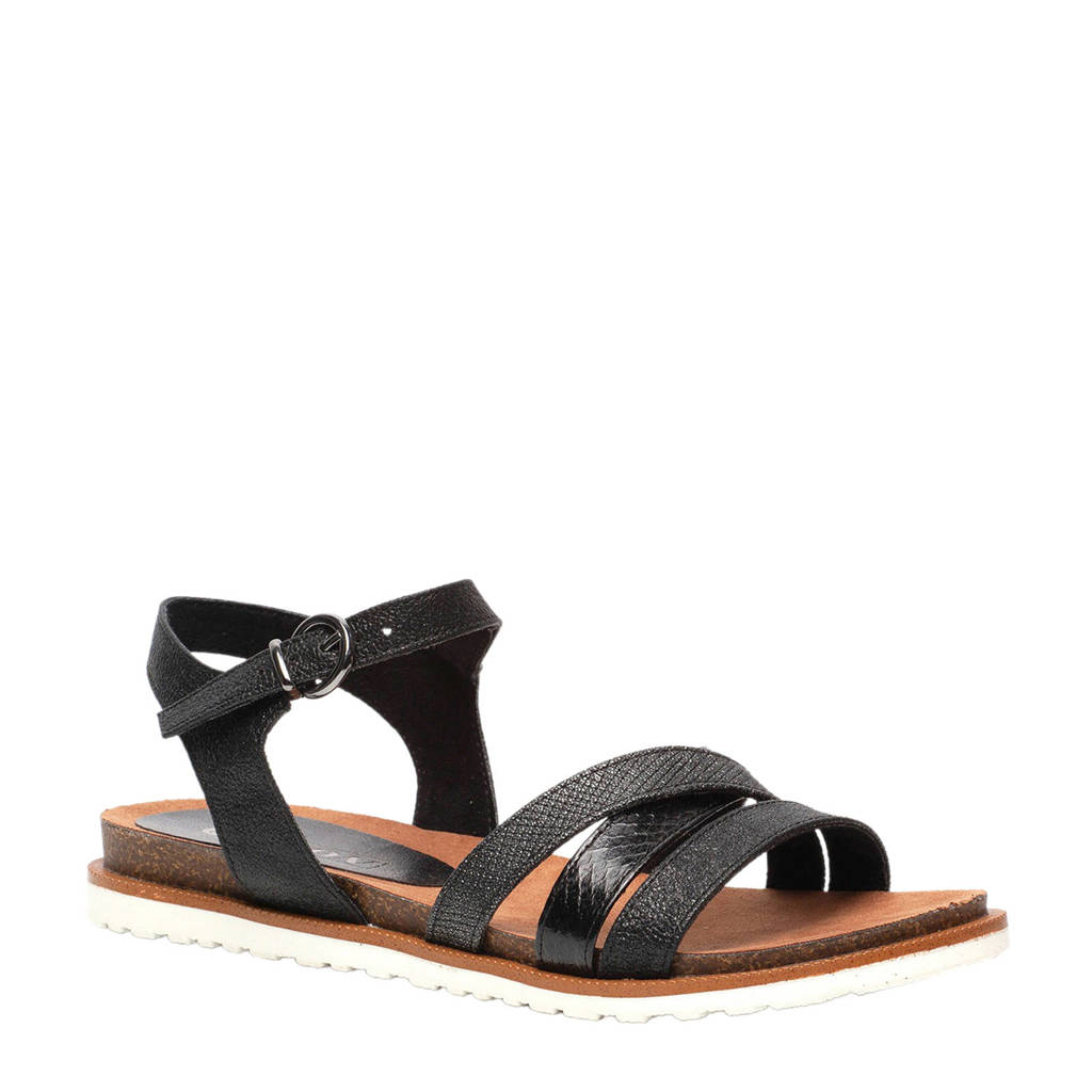 Scapino Nova sandalen zwart, Zwart