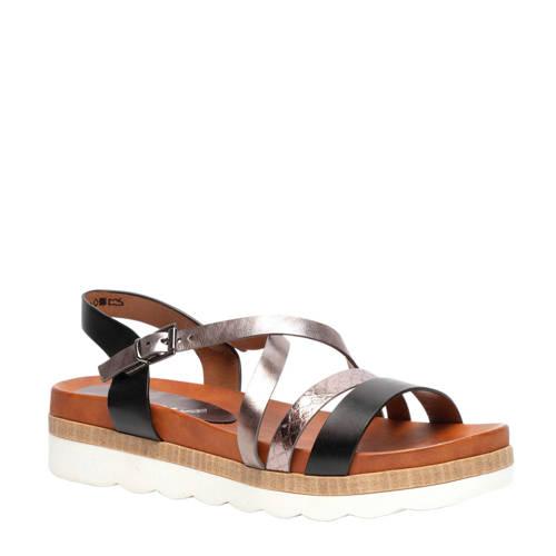 Scapino Nova sandalen zwart/zilver kopen