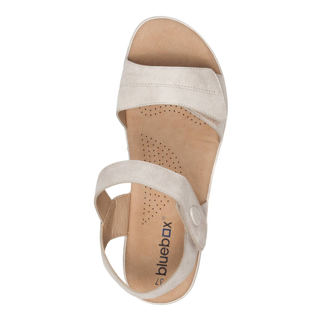Box Scapino Sandalen Scapino Blue Beige Blue wUtSS7