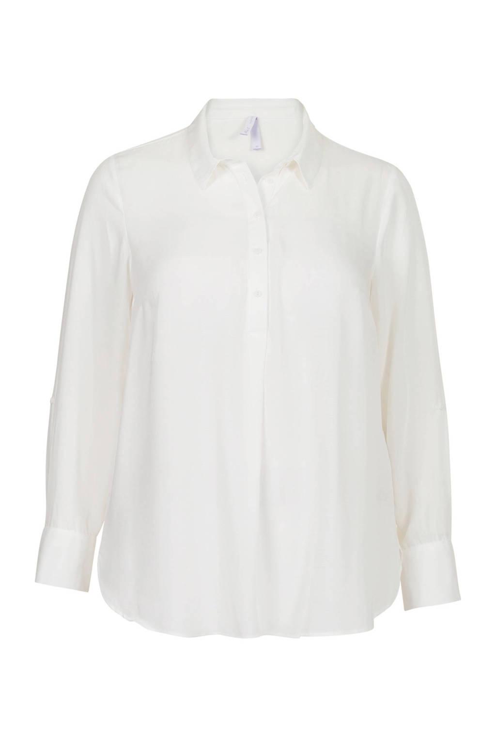 Miss Etam Lang blouse wit, Wit