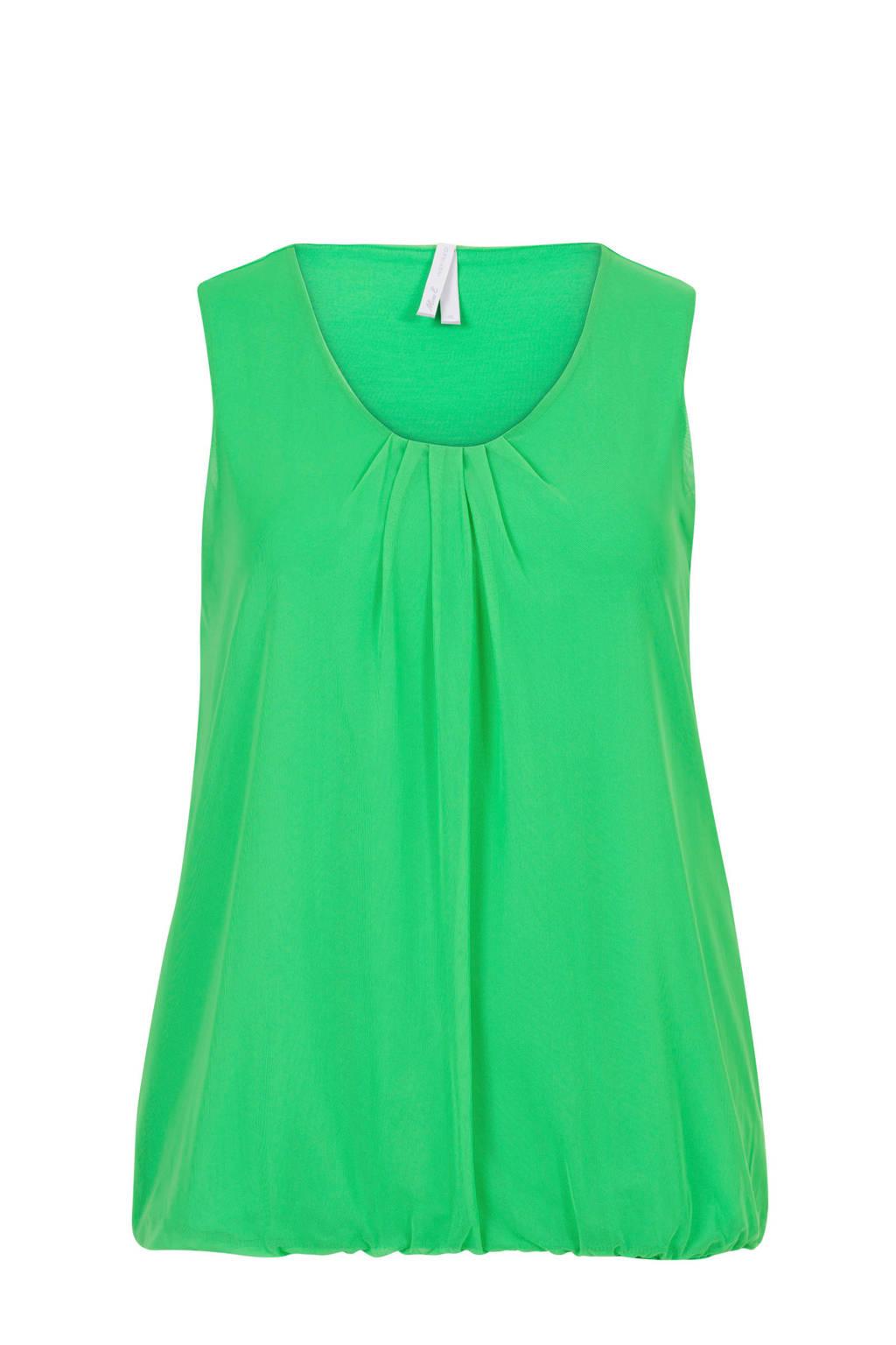 Miss Etam Plus mouwloze top groen, Groen