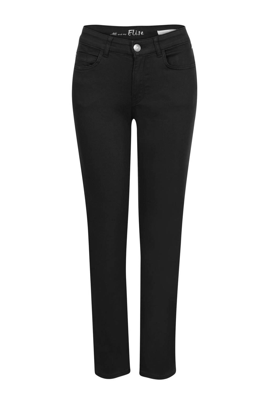 Miss Etam Regulier straight fit broek zwart, Zwart
