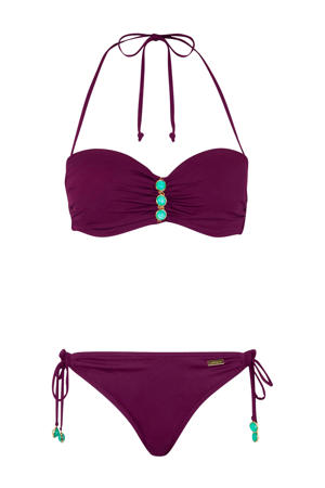 strapless bandeau bikini bordeaux
