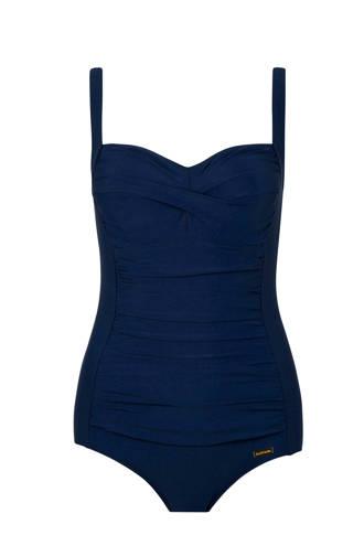 corrigerend badpak donkerblauw