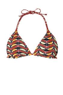 Scotch & Soda mix & match reversible triangel bikinitop met all over print bruin