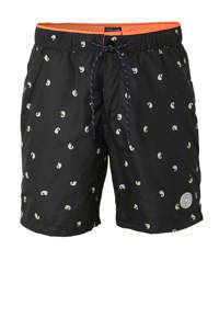 Scotch & Soda zwemshort met all over print zwart, Zwart/wit